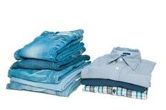 Jeans en overhemden Royalty-vrije Stock Afbeeldingen