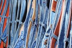 Jeans et ceintures Images libres de droits