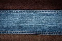 Jeans et textures de velours côtelé Image libre de droits