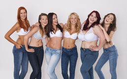 Jeans for everyone Royalty Free Stock Photos