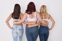 Jeans for everyone Stock Images