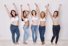 Jeans för alla Arkivfoto