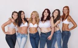 Jeans för alla Arkivbild