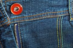 Jeans Fabric And Pocket Royalty Free Stock Photo