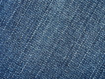 Jeans fabric close-up Royalty Free Stock Photo