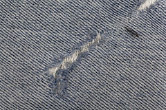 Jeans fabric with fissure Stock Photo