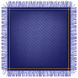 Jeans fabric with fringe Royalty Free Stock Photo