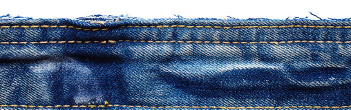 Jeans fabric from jeans pants Royalty Free Stock Photo