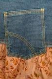 Jeans Fabric Rear Pocket Royalty Free Stock Photos