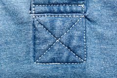 Jeans fabric seams. A closeup of seams on jeans fabric Royalty Free Stock Images