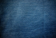 Jeans fabric texture Royalty Free Stock Images