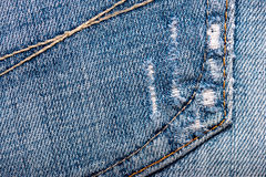 Jeans fabric texture Royalty Free Stock Photo