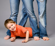 Jeans family Royalty Free Stock Photos