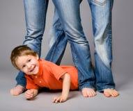 Jeans family royalty free stock photos