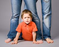 Jeans family Royalty Free Stock Image
