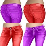 Jeans female jeans, girl, female, fashion, young, Royalty Free Stock Images