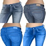 Jeans female jeans, girl, female, fashion, young, Royalty Free Stock Photos