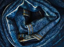 The rumpled jeans Royalty Free Stock Photos