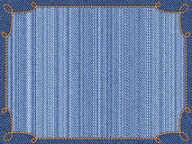 Jeans frame Royalty Free Stock Image