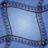 Jeans frame Royalty Free Stock Photos