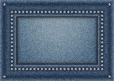 Jeans frame with sequins Royalty Free Stock Image
