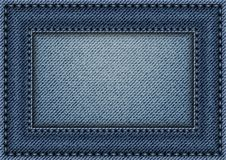 Jeans frame with stitches Stock Photo