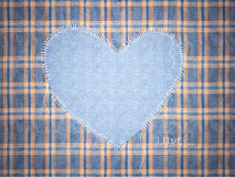Jeans framework with heart. Stock Photos