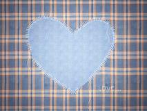 Jeans framework with heart. Stock Photos