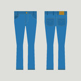 Jeans Front And Back View Stock Images