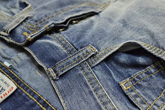 Jeans. Front pocket of jeans close-up Stock Image