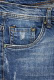 Jeans front pocket Stock Photo