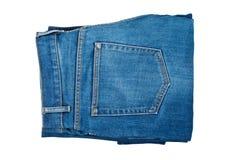 Jeans getrennt auf Weiß. Stockfotos