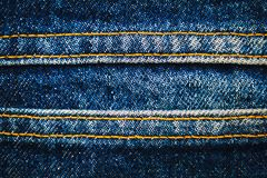 Jeans, Gewebe, Denimindigo Stockfotos