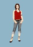 Jeans girl Royalty Free Stock Images