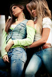 Jeans girls Royalty Free Stock Photography