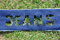 Jeans on the grass. Stock Image