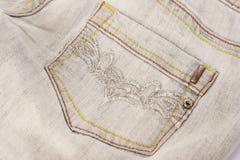 Jeans grigi Immagini Stock