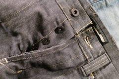 Jeans gris détaillés Photo stock