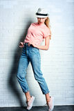Jeans and hat Royalty Free Stock Images