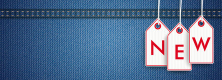 Jeans Header Price Stickers New Royalty Free Stock Photography
