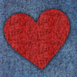 jeans heart background Stock Photos