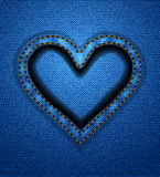Jeans heart frame Stock Photo