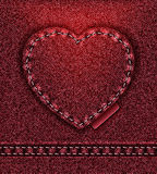 Jeans heart red  Stock Images