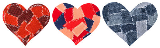Jeans Heart Shape Patch Object Stitches Seam, Valentines Day Stock Image