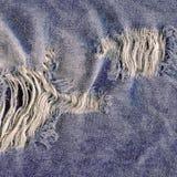 Jeans heftige Denimbeschaffenheit Denimjeans zerrissen Stockbild