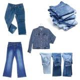 Jeans, Hosen, lokalisiert Lizenzfreies Stockbild