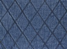 Jeans. An image of quilted denim Royalty Free Stock Images