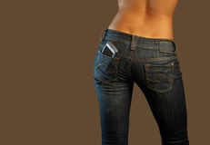 Jeans imaginations (communications) Royalty Free Stock Photo