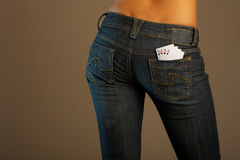Jeans imaginations (luck) Royalty Free Stock Image