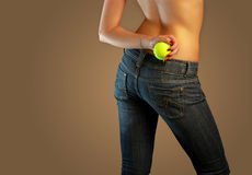 Jeans imaginations (tennis) Royalty Free Stock Photo